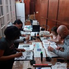 Souvenirs de l'Atelier Calligraphie et Origami de mars !
